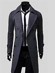 Fanzhuo Men'S Winter Fitted Long Warm Coat 1802