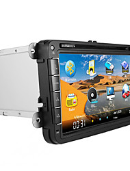 """CHTECHI 8"""" 2 Din Touch Screen LCD Car DVD Player For Volkswagen general 2003-2012"""