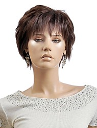 Light Brown Women lady Short Synthetic Hair Wigs