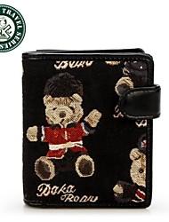 DAKA BEAR® NEW Canvas Brand Women's Wallet Multifunctional Short Design Ladies Wallet Zipper Coin Purse Card Holder