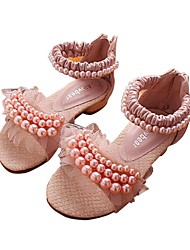 Girls' Shoes Slingback Flat Heel Leather Sandals with Beading and Stitching Lace Shoes More Colors available
