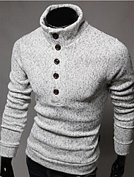 Hongda  Men's Single Button  Knitwear Pullover