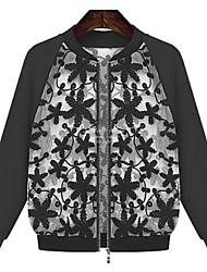 laço bordado de fios de costura das mulheres blusa de manga comprida