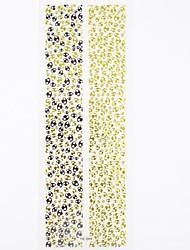 1 * 2pcs etiquetas engomadas del clavo 3d Adhesivos puntas de las uñas Estilo Etiqueta extranjero para las decoraciones del diseño del arte del clavo