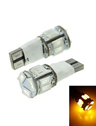 T10 LED 2-Mode Yellow 5W 11X5630SMD 550LM   for Car Brake Light (DC12-16V)