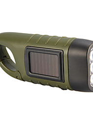 Hand and Solar Power Generation LED Flashlight(Green)