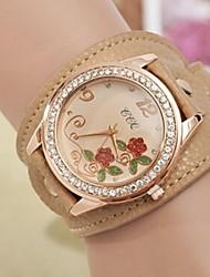 Women's Round Diamante Case Leather Band Quartz Fashion Watch(Assorted Colors) Cool Watches Unique Watches