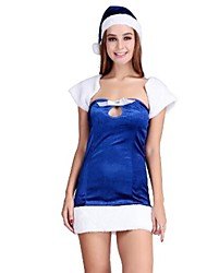 Blue Adult Sexy Christmas Woman's Costume One Size