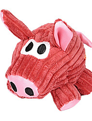 Dogs Toys Chew Toy / Squeaking Toy Pig Textile Red