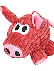 Perros Juguetes Juguete Mordedor / Juguetes Crujientes Cerdo Textil Rojo