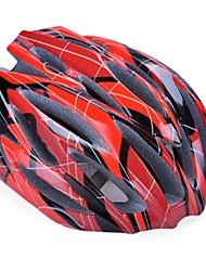 moda cómoda seguridad + y alta transpirabilidad casco de bicicleta (31 tiros) - rojo + negro