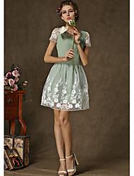 todo vestido de estampado floral partido de las mujeres q.s.h