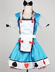muito de poker alice azul terylene uniformes cosplay empregada doméstica