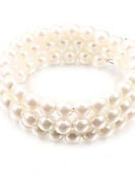 Wrap Bracelet Simulated Faux Pearl Strand Bracelet Stretch Fashion Jewelry Christmas Gifts(1 Pc)