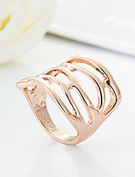 Cute / Casual Gold Plated Statement Ring