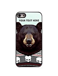 Personalized Phone Case - Black Bear Design Metal Case for iPhone 5/5S