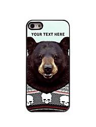 caja del teléfono personalizado - caso del metal del diseño del oso negro para el iphone 5 / 5s