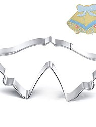 Christmas Theme Double Christmas Bell Shape Cookie Cutter, L 9.5cm x W 5.1cm x H 2cm, Stainless Steel