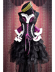 Inspired by Macross Frontier Sheryl Nome Anime Cosplay Costumes Cosplay Suits Patchwork Black / Purple Sleeveless Dress / Hat / Bow