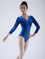 Ballet Tops Tights Women's Children's Cotton Velvet Long Sleeve