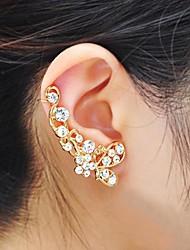Punhos da orelha Strass Liga Prata Dourado Jóias Para Festa Diário