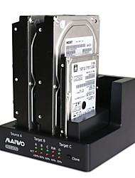 MAIWO K3093 USB3.0 1:2 Clone 3Bay SATA HDD Docking Station Duplicator