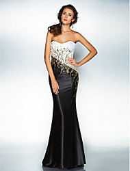 Homecoming Dress Sheath/Column Sweetheart Floor-length Satin/Sequined
