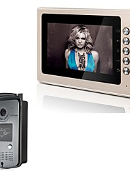 "XYY-V70B-ID 7"" TFT Color Video Door Phone System with Wheatherproof Cover  Camera and ID Card - Golden"