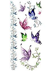 1pc Cute Butterfly Bracelet Waterproof Body Art Tattoo Pattern Temporary Tattoo Sticker(18.5cm*8.5cm)