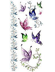 Tatuajes Adhesivos - Modelo/Waterproof - Series de Animal - Mujer/Girl/Adulto/Juventud - Multicolor - Papel - #(1) - #(18.5*8.5)