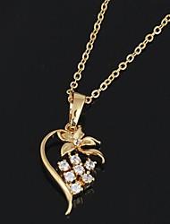 Women's True Love Flower Pendant Necklace
