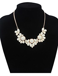 Women's Cute Flowers Cluster Bib Statement Necklace