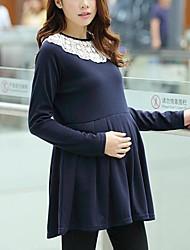 col rond robe de maternité coton des femmes