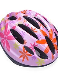 moda cómoda seguridad + eps 10 respiraderos niños 'integralmente moldeadas por el ciclismo casco - rosa + naranja