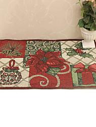 Elegant Floral Yarn-dyed Jacquard Placemat,33*48cm