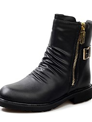 Men's Shoes Casual Calf Hair Boots Black