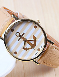 GoGo Fashion  All Match  Leather Alloy Watch