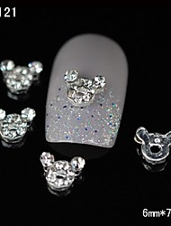 10pcs Lovely Super Cute Mickey Mouse DIY Rhinestone Nail Art Decoration