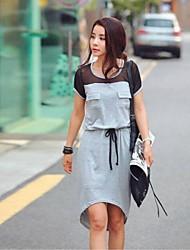 loisirs correspondance des couleurs de la robe à manches courtes femmes