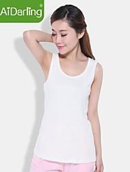 aidarling orgânica colete colete de algodão das mulheres tornar sem forro vestuário superior de t-shirts com mangas curtas