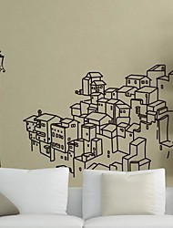 Wall Stickers Wall Decals,  Modern City Building PVC Wall Stickers