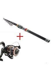 3,6 углерода рыбалка среднего удочка&комбо катушка рыболовная катушка DE40 спиннинг рыболовных катушек