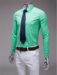 Light Green Slim Fit Long Sleeve Shirt
