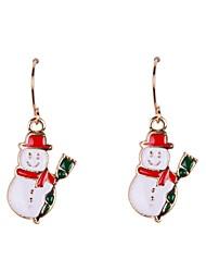 Fashion Snow Man Christmas Earrings