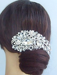 Women Alloy/Rhinestone/Crystal Hair Comb , Vintage/Party
