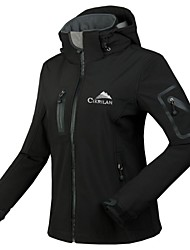 Cikrilan® Cycling Jacket Women's Long Sleeve BikeWaterproof / Breathable / Thermal / Warm / Fleece Lining / Waterproof Zipper / Front