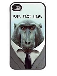 personalizzato del telefono caso - babbuino caso di disegno del metallo per il iphone 4 / 4s