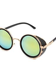 100% UV400 Round Metal Retro Sunglasses