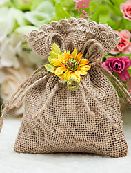 Favor Holder Flaxen Linen Favor Bag