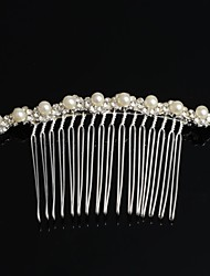 prata strass chapeado grânulos de cristal pérola tiara do casamento pentear o cabelo